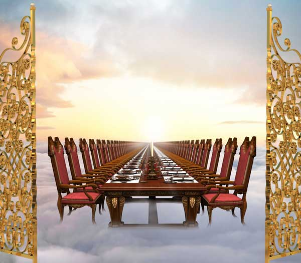 table set for a banquet in heaven