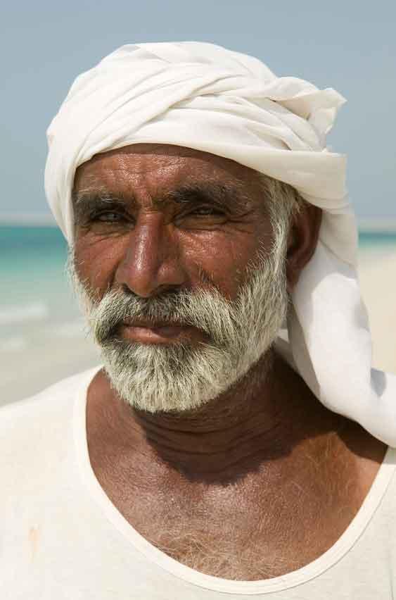 old man wearing a turban