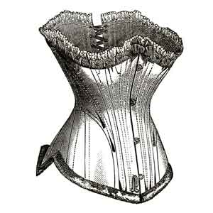 illustration of french corset